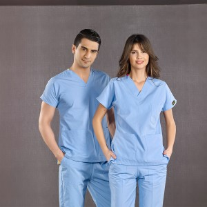 Dr. Greys Modeli Açık Mavi Hemşire Forması