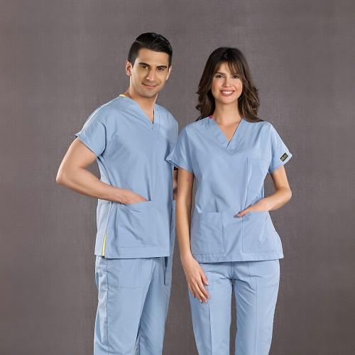 Dr. Greys Modeli Duman Grisi Hemşire Forması