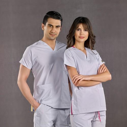 Dr. Greys Modeli Gri Hemşire Forması
