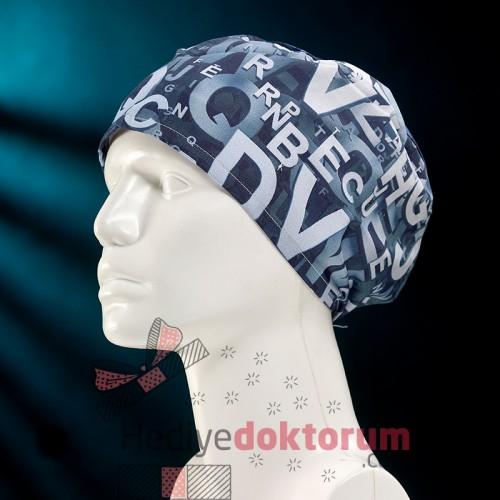 3D Blue Patterned Surgical Caps