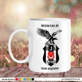 Beşiktaş Tasarımlı Baskılı Kupa Bardak