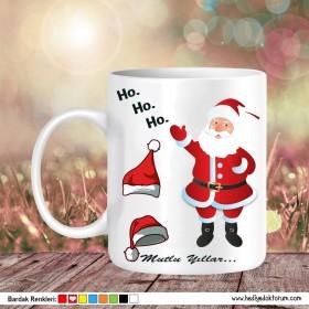 Noel Baba Tasarımlı Yeni Yıl Hediyesi Kupa Bardak