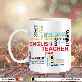 İngilizce Öğretmeni Baskılı 2 Kupa Bardak
