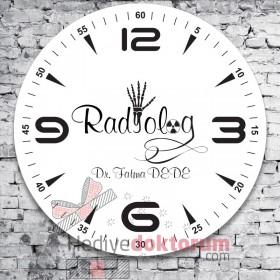 Radyolog Tasarımlı Cam Duvar Saati