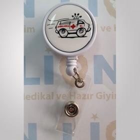 Ambulans Tasarımlı Yaka Kartı Yoyosu - Rozeti