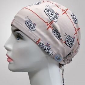 Ambulance Patterned Surgical Scrub Caps