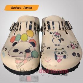 Panda Desenli Anatomik Baskılı Terlik