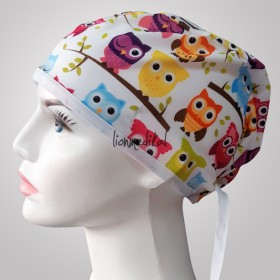 Owl Patterned Surgical Scrub Caps