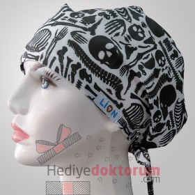 Skeleton Patterned Surgical Caps