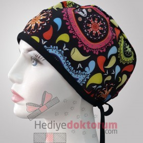 Drop Patterned Surgical Scrub Caps