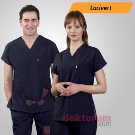 Dr. Greys Modeli Lacivert Hemşire Forması
