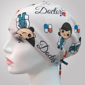 Doctor Patterned Surgical Scrub Caps