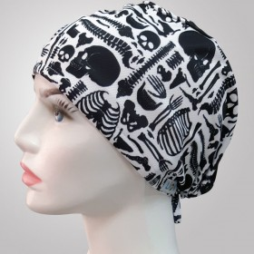 Skeleton Patterned Surgical Scrub Caps