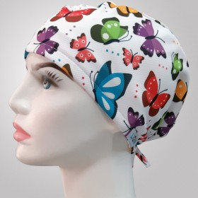 Butterfly Patterned Surgical Scrub Caps