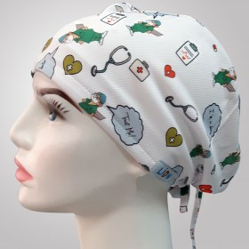 Trust Me I Am A Doctor Patterned Surgical Scrub Caps