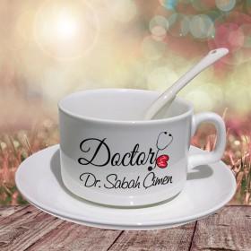Doctor Yazılı Hediye Porselen Fincan