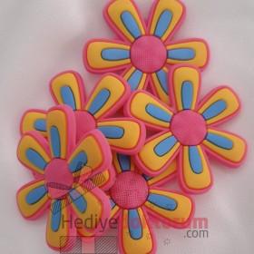 Çiçek Desenli Crocs Süsü -Jibbitz
