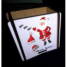 Noel Baba Baskılı Ahşap Kalemlik