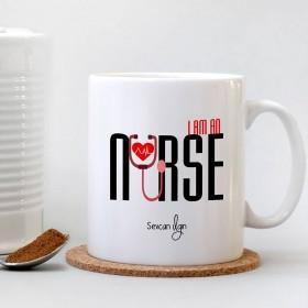 Hemşire (Nurse) Baskılı Bardak