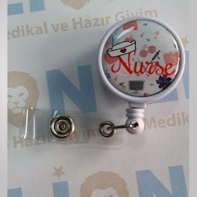 Nurse Tasarımlı Yaka Kartı Yoyosu - Rozeti