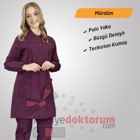 Tesettür Hemşire Forması Polo Yaka Terikoton