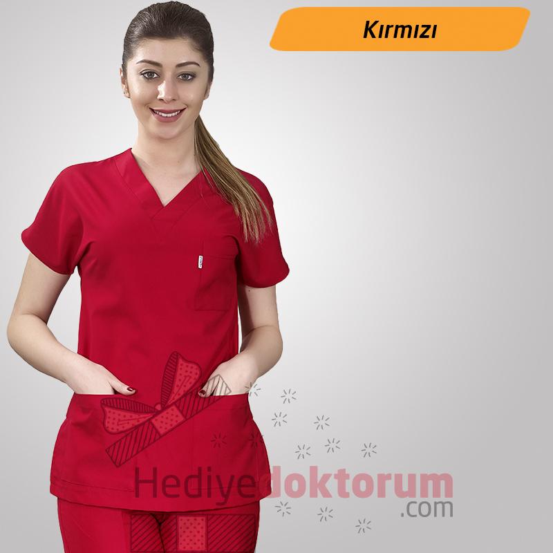 Hemşire Forması - Kırmızı